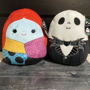 """Disney The Nightmare Before Christmas NBC Jack And Sally 12"""" Squishmallow HOT"""
